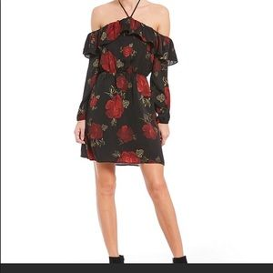 NWT Cupcake and Cashmere Black & Red Floral Dress